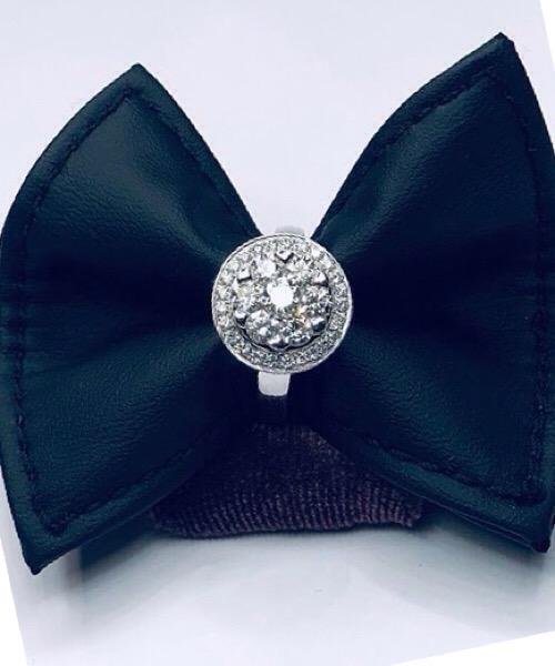 Anello  in oro bianco 18 kt e diamanti Govoni Gioielli