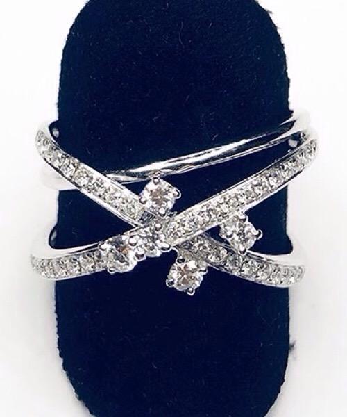 Anello Fantasy  in oro bianco 18 kt e diamanti bianchi One Gioielli