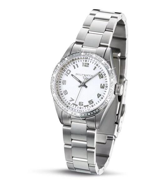 Orologio Philip Watch, modello Caribbean Diamonds, in Acciaio e Diamanti