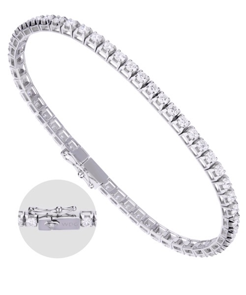 BRACCIALE TENNIS IN ORO BIANCO E DIAMANTI  World Diamond Group