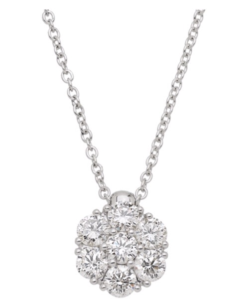 COLLIER IN ORO BIANCO E PUNTO LUCE CON DIAMANTE World Diamond Group